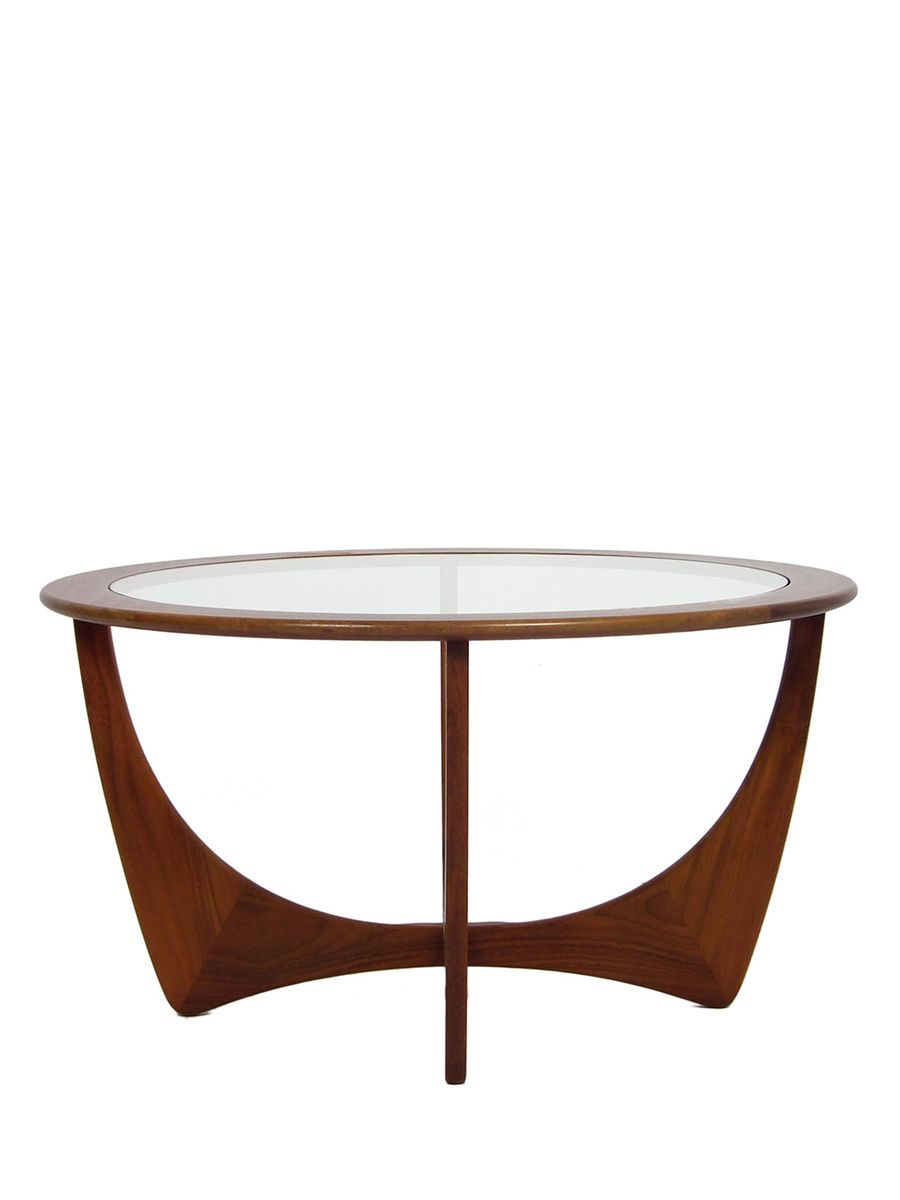 Mid Century Astro Teak Glass Round Coffee Table By Victor Wilkins For G Plan For Sale At Pamono