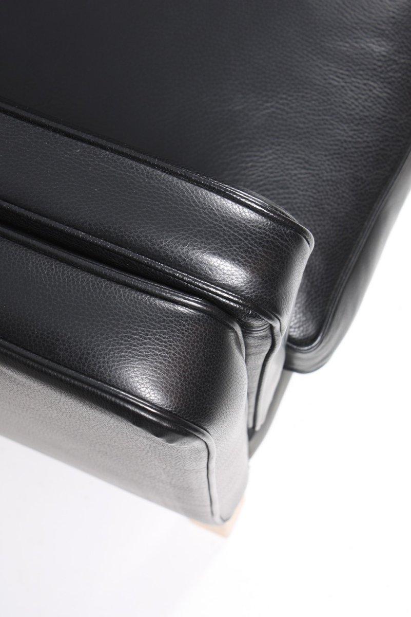 d nisches schwarzes ledersofa 1980er bei pamono kaufen. Black Bedroom Furniture Sets. Home Design Ideas