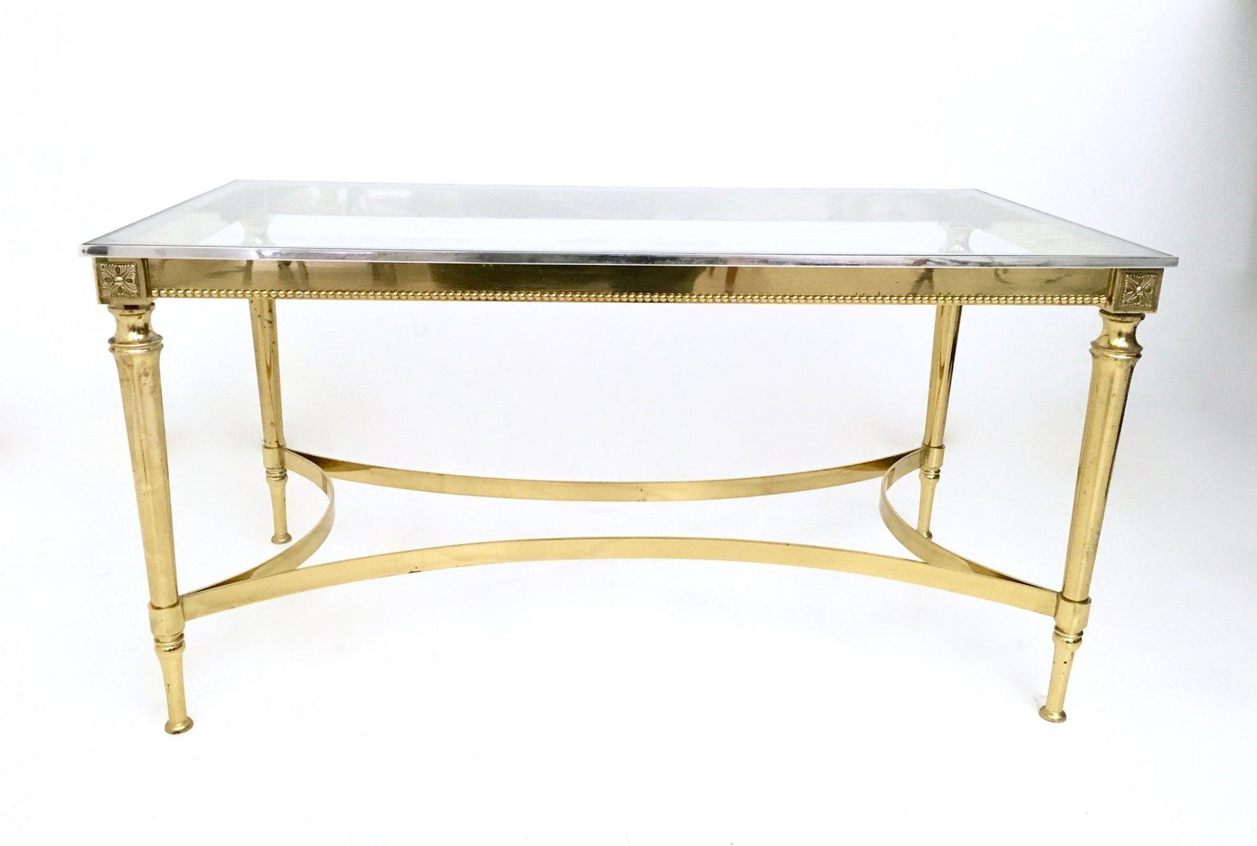 mid century couchtisch aus glas und metall bei pamono kaufen. Black Bedroom Furniture Sets. Home Design Ideas