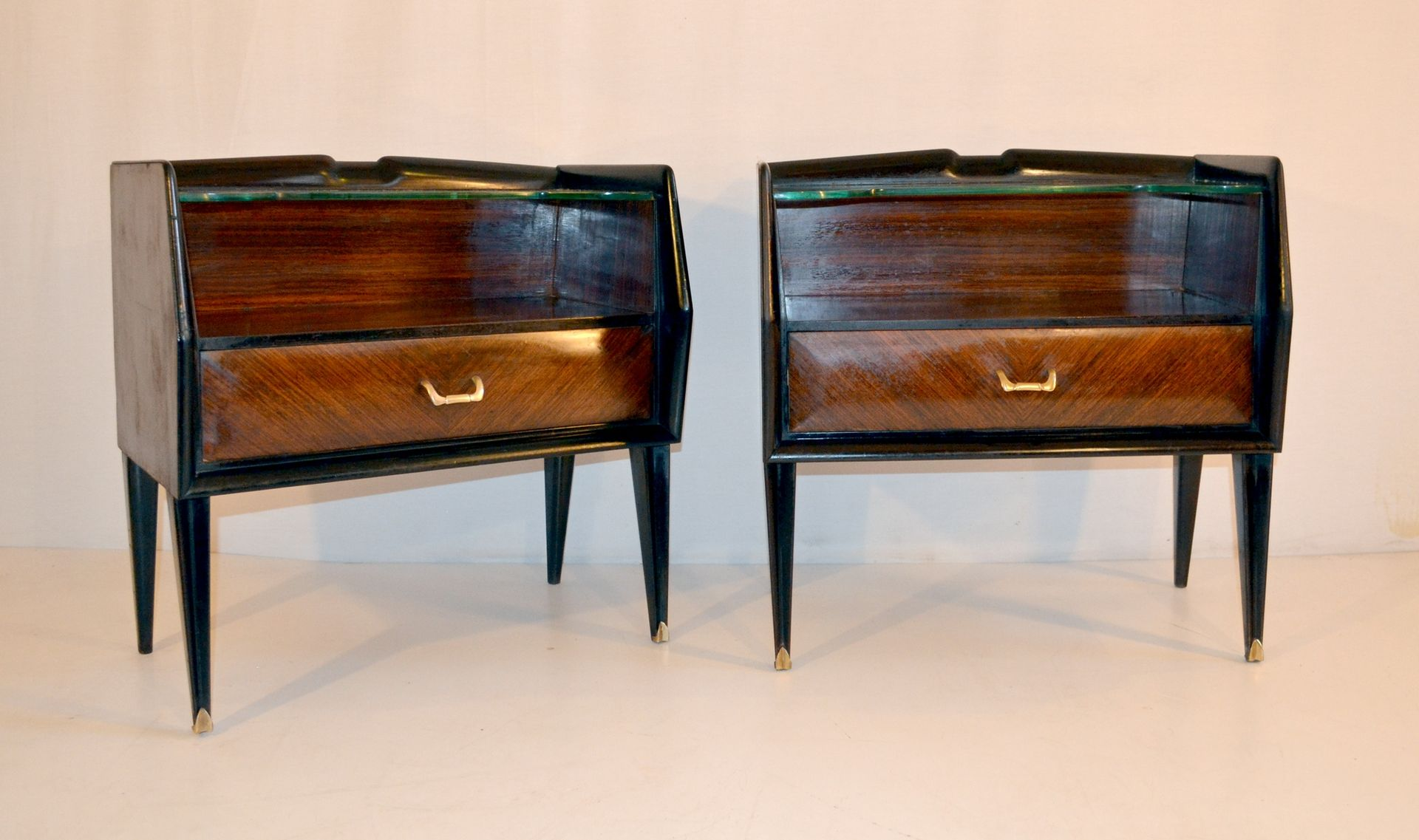 mid century nightstands set of 2 for sale at pamono. Black Bedroom Furniture Sets. Home Design Ideas