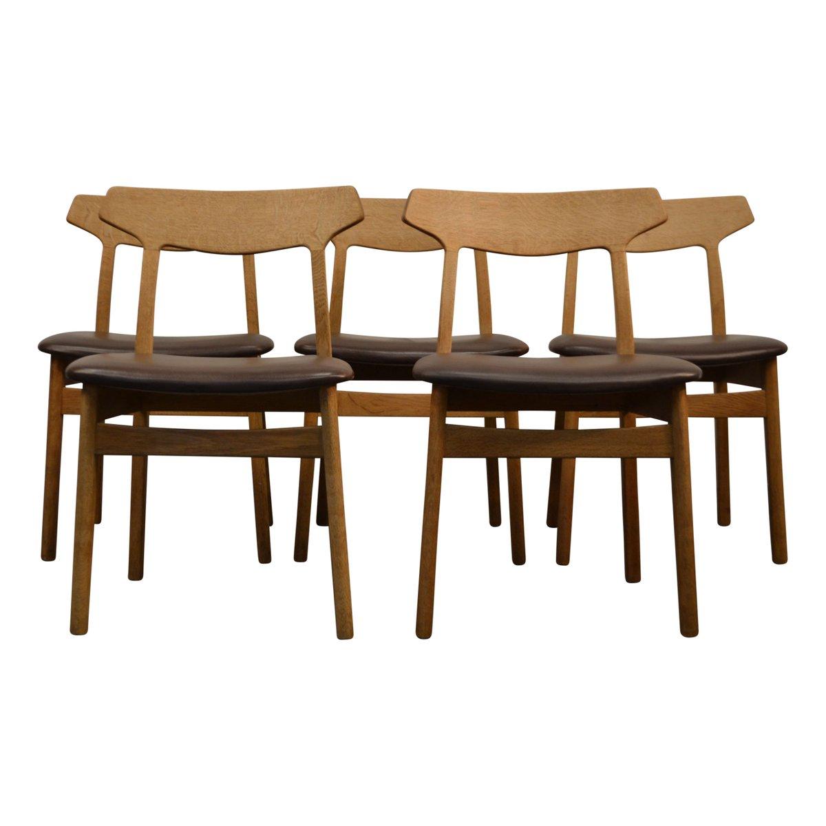 esszimmerst hle aus eiche von henning kjaernulf f r bruno. Black Bedroom Furniture Sets. Home Design Ideas