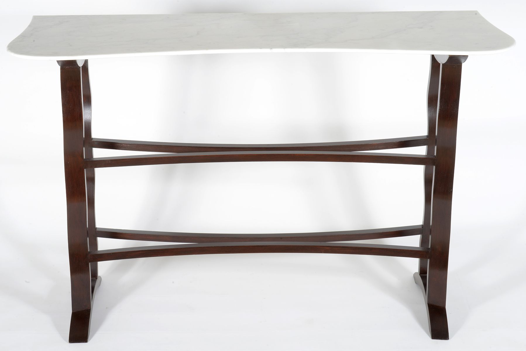 Mid century carrara marble console table 1950s for sale at pamono mid century carrara marble console table 1950s geotapseo Choice Image