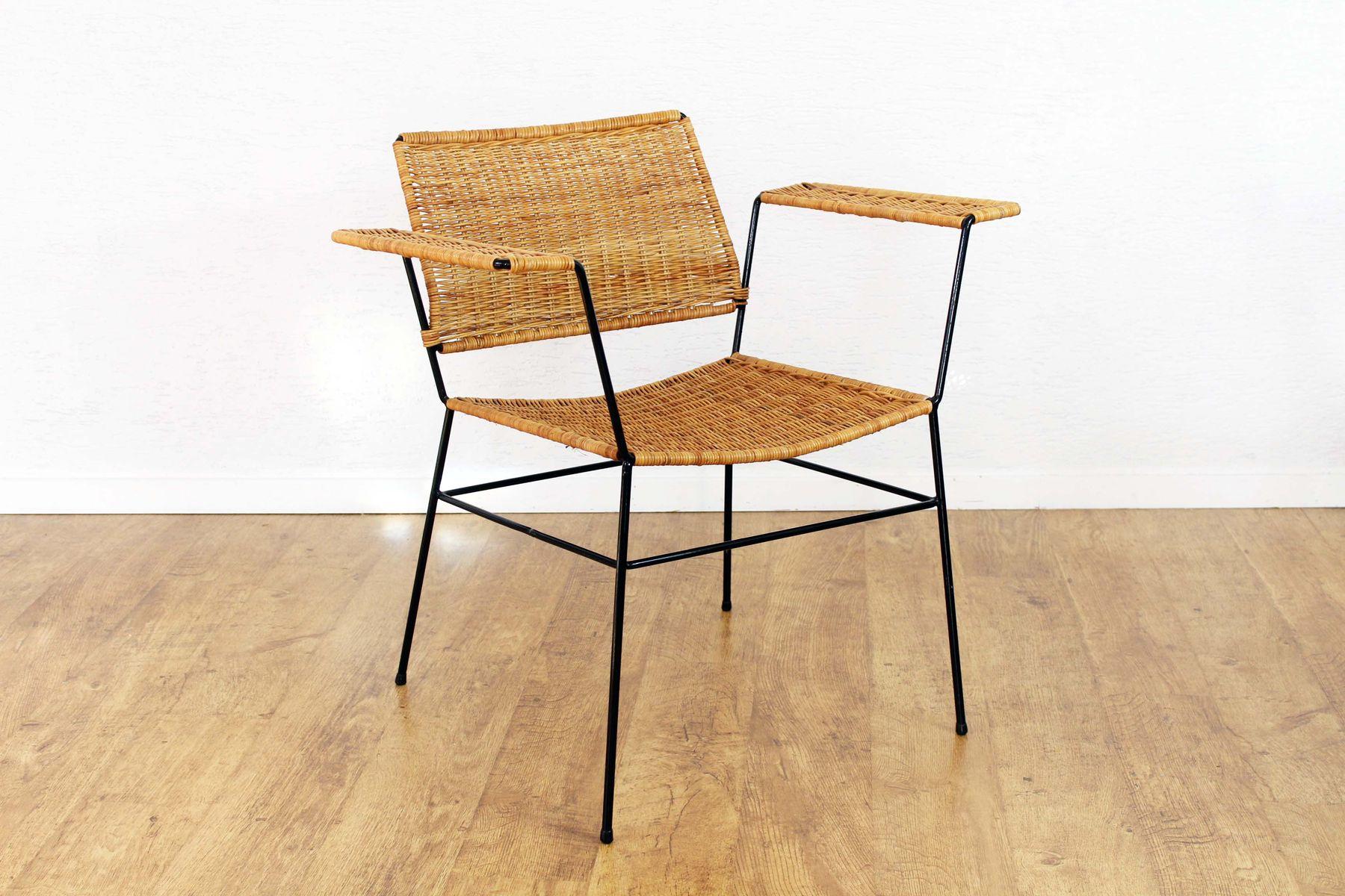 vintage sessel aus korbgeflecht 1970er bei pamono kaufen. Black Bedroom Furniture Sets. Home Design Ideas