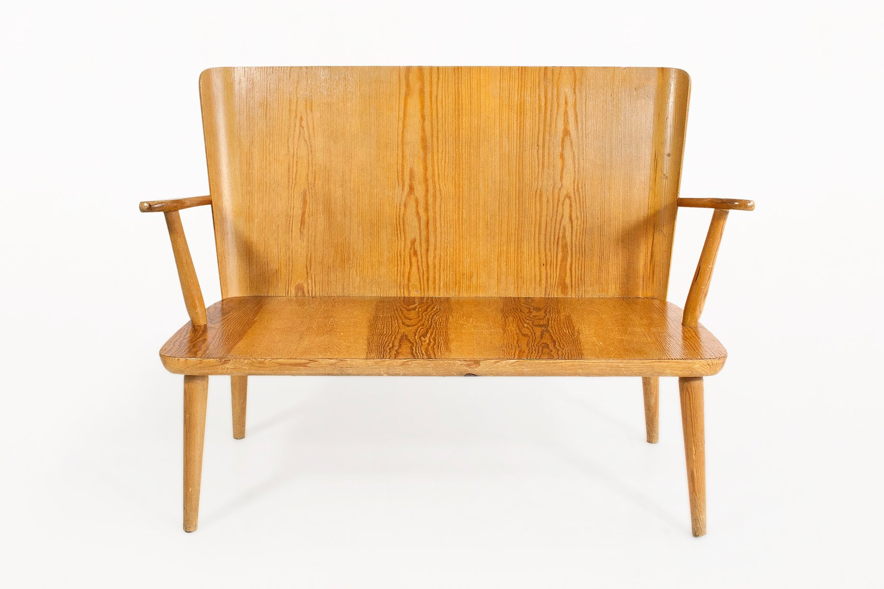 Mid Century Swedish Elm Bench 1950s For Sale At Pamono