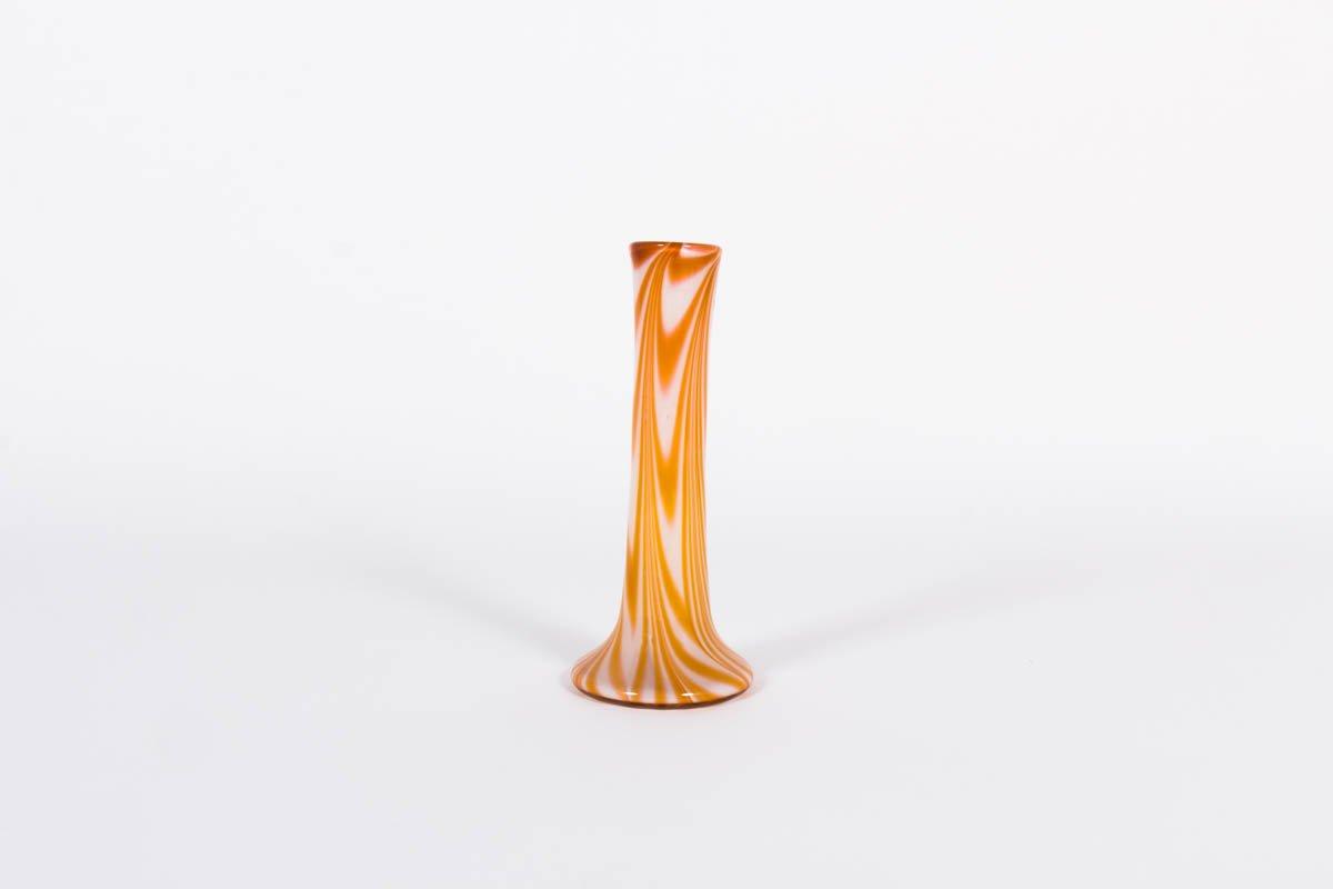 gro e 1 blumen vase aus glas 1970er bei pamono kaufen. Black Bedroom Furniture Sets. Home Design Ideas