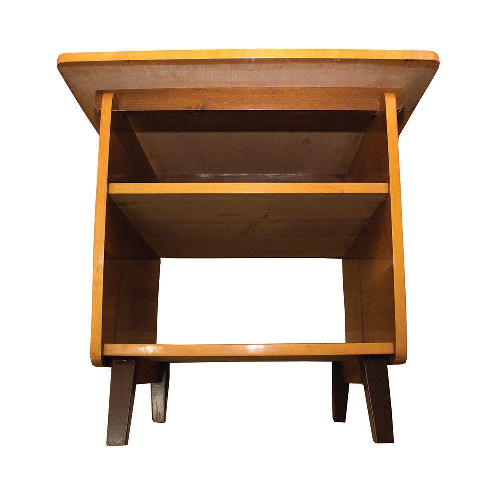 Brown lacquered table 1950s en vente sur pamono for Table 4 en 1 intersport