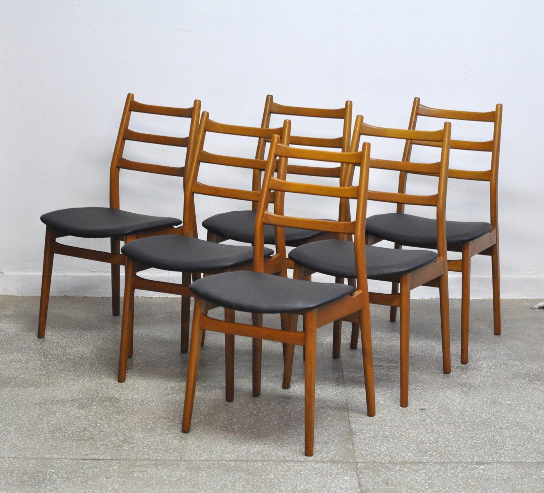 chaises vintage en teck de casala set de 6 en vente sur pamono. Black Bedroom Furniture Sets. Home Design Ideas