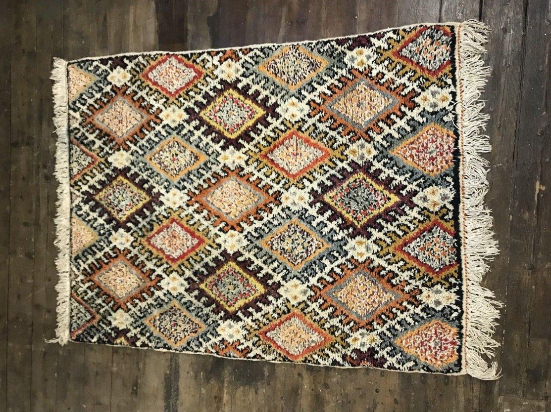 vintage moroccan berber beni ouarain shag wool rug 1963 for sale at pamono. Black Bedroom Furniture Sets. Home Design Ideas