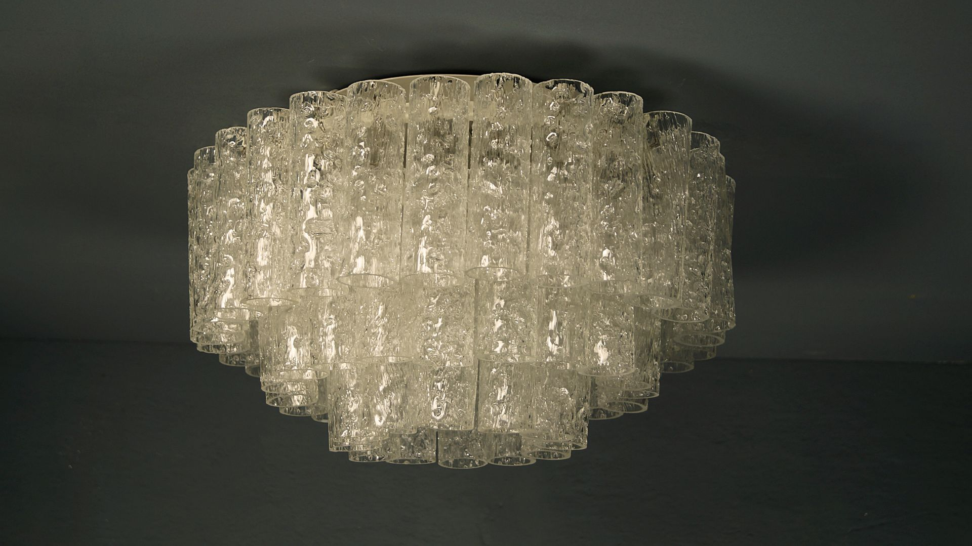Large vintage 3 tier glass chandelier from doria leuchten for sale large vintage 3 tier glass chandelier from doria leuchten arubaitofo Image collections