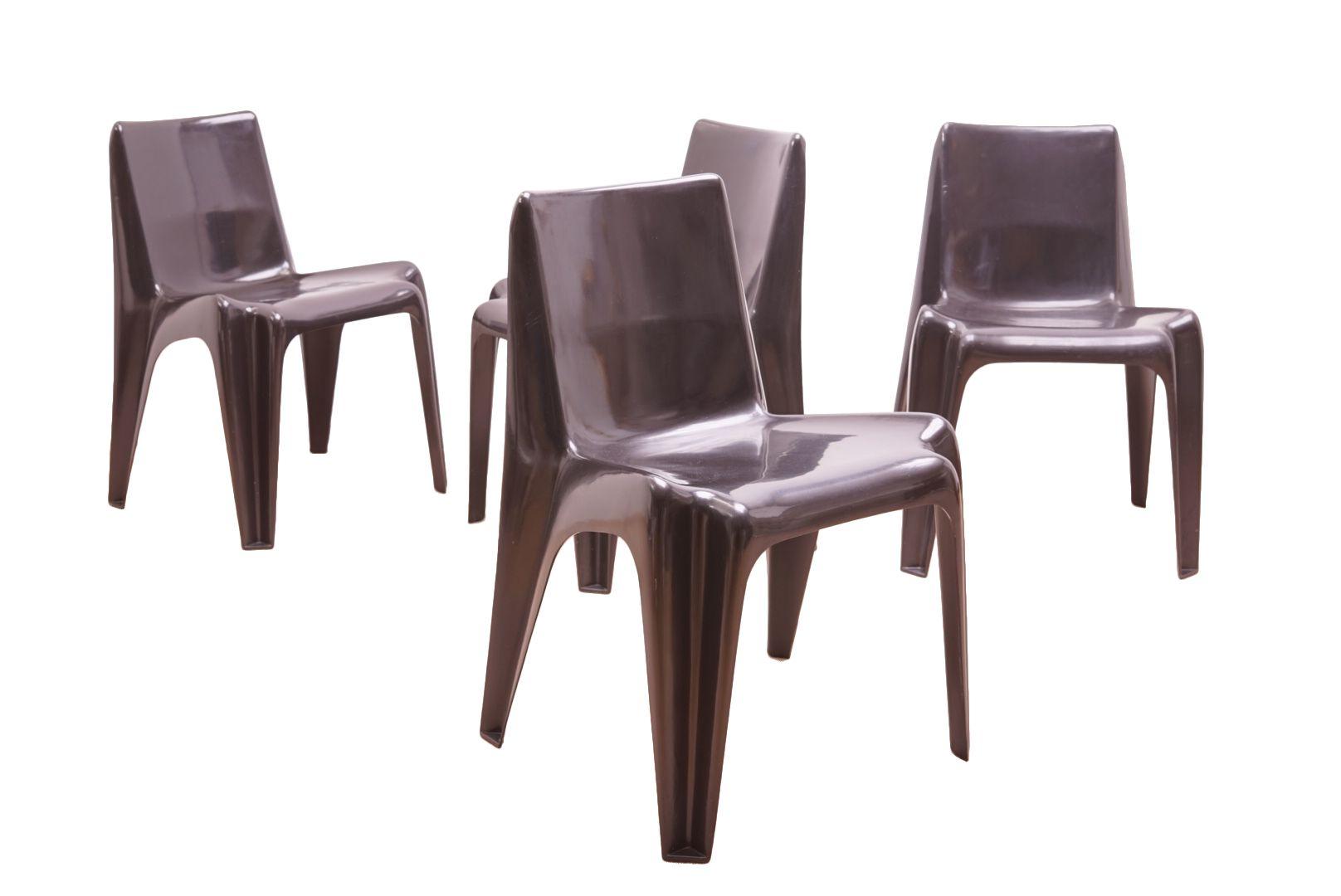 vintage st hle aus glasfaser von helmut b tzner f r. Black Bedroom Furniture Sets. Home Design Ideas