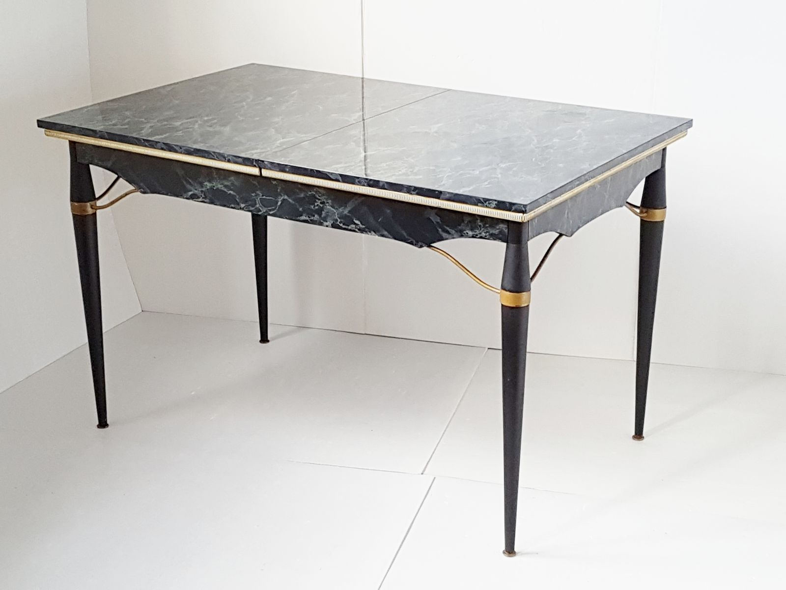 Dining Table In Formica Metal Wood 1950s For Sale At Pamono
