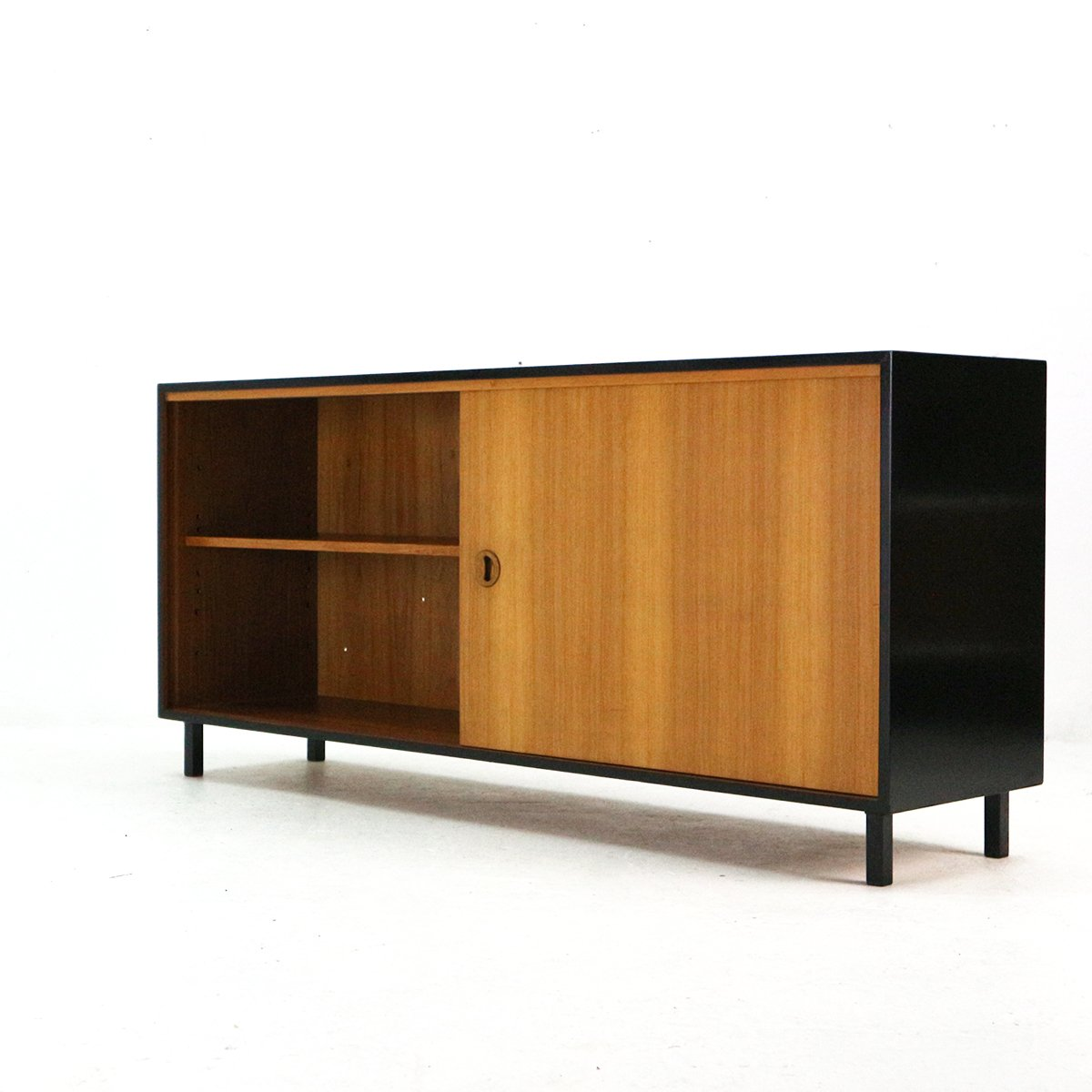 teak veneer sideboard from musterring 1960s for sale at. Black Bedroom Furniture Sets. Home Design Ideas