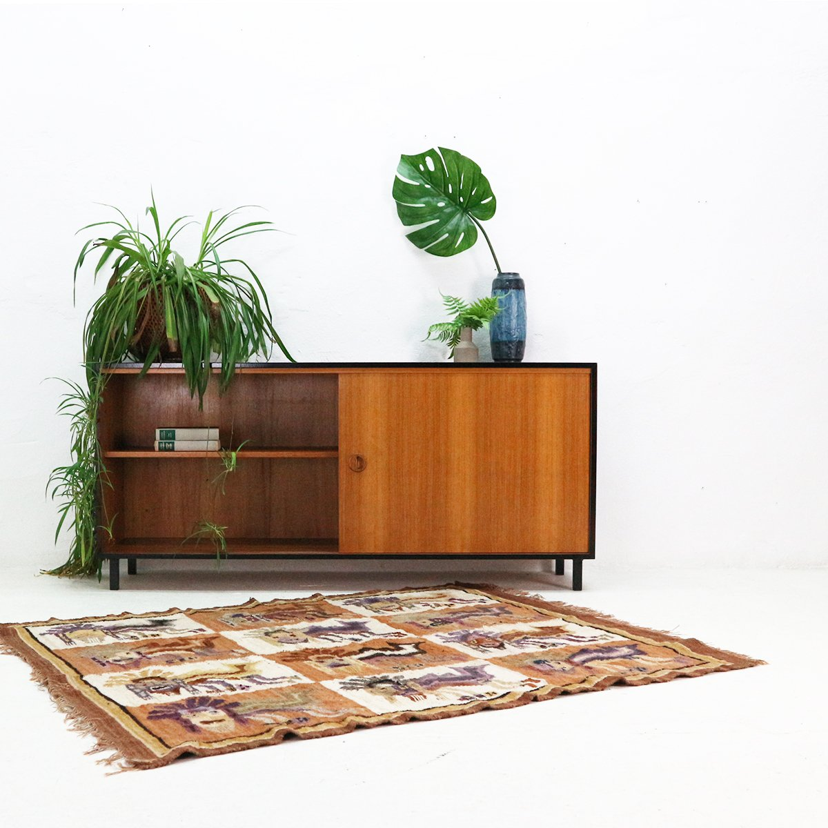 teak veneer sideboard from musterring 1960s for sale at. Black Bedroom Furniture Sets. Home Design Ideas