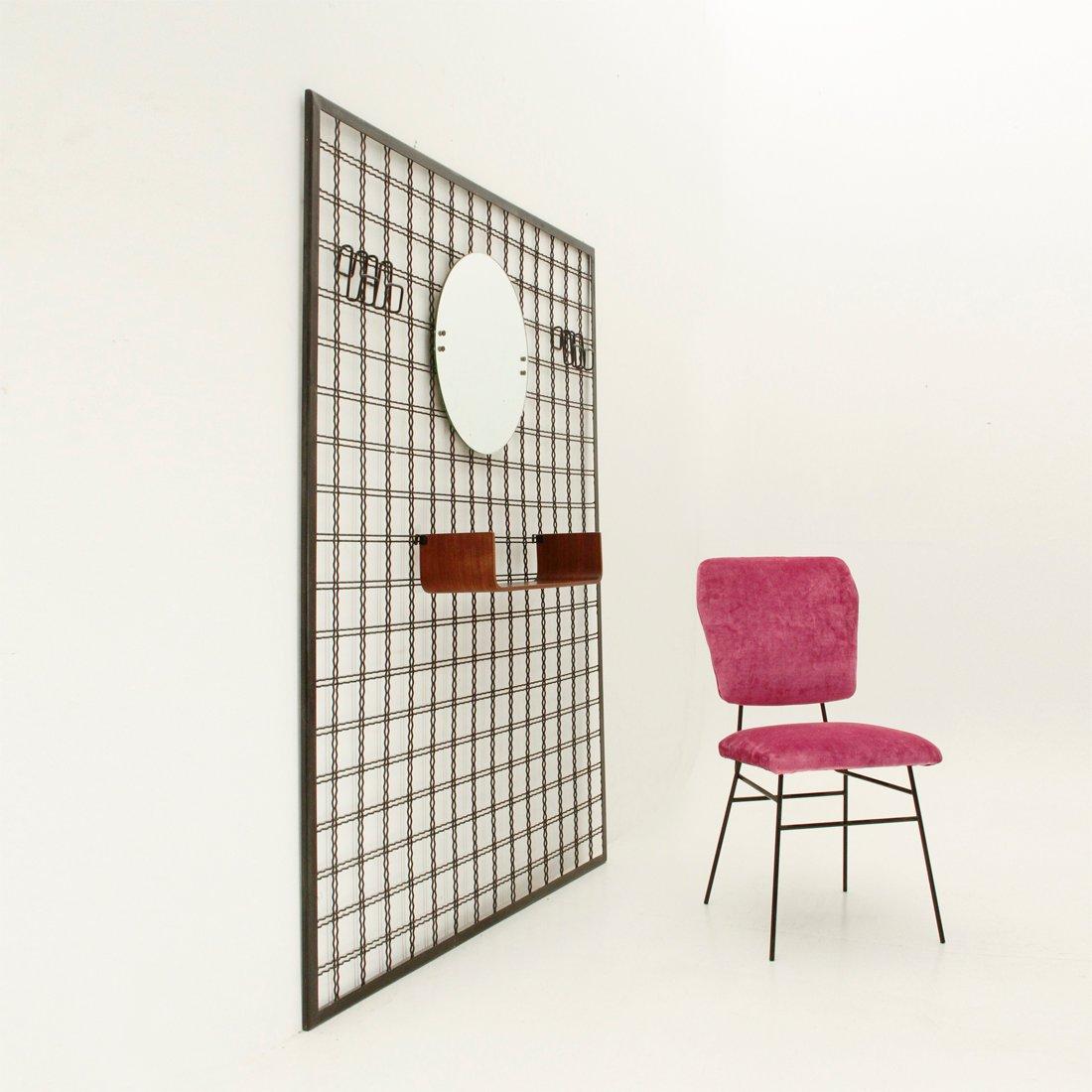 garderobe mit spiegel und ablage von stilcasa 1950er bei pamono kaufen. Black Bedroom Furniture Sets. Home Design Ideas