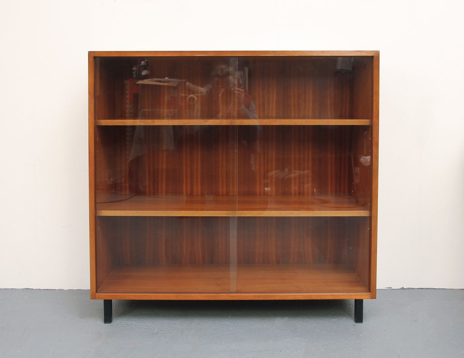 Walnut Bookshelf Cabinet 1960s