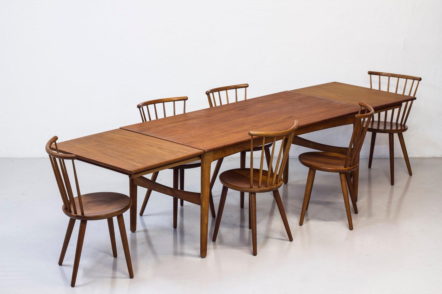 Esszimmerstühle von Yngve Ekström für Stolab, 1950er, 6er Set bei Pamono kaufen