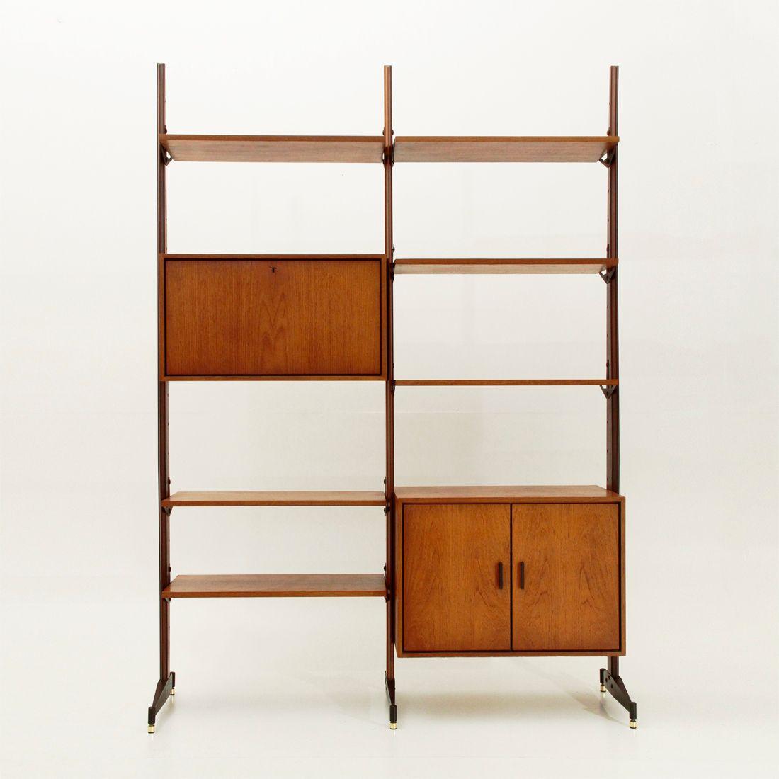 Libreria in teak italia anni 39 60 in vendita su pamono - Mobili in teak anni 60 ...
