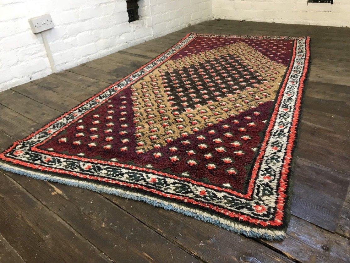 vintage moroccan berber beni ouarain shag wool rug for sale at pamono. Black Bedroom Furniture Sets. Home Design Ideas