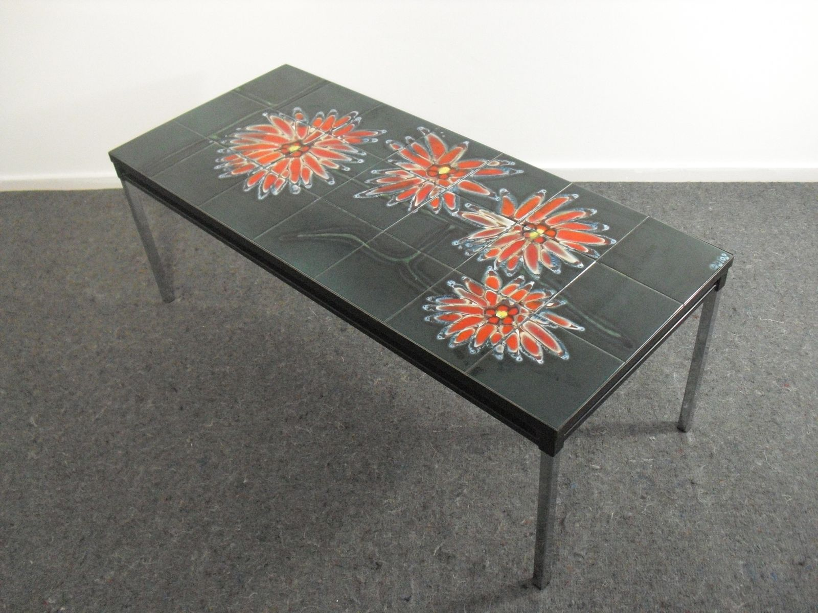 Vintage Ceramic Tile Coffee Table By Adri 1960s For Sale At Pamono