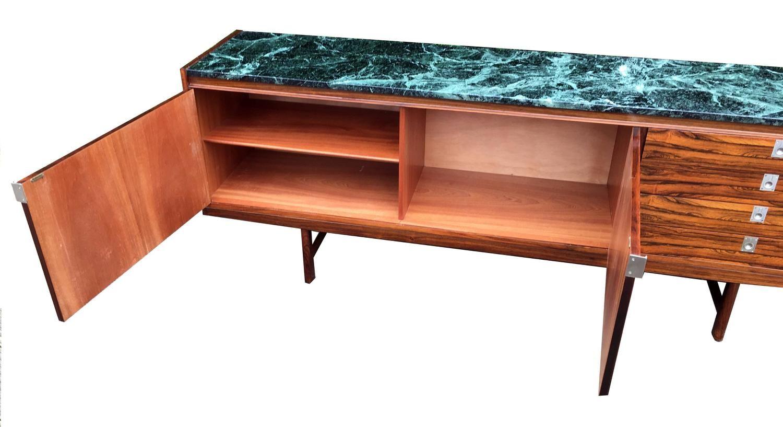 Palisander furnier sideboard mit marmor tischplatte von for Sideboard 4 meter lang