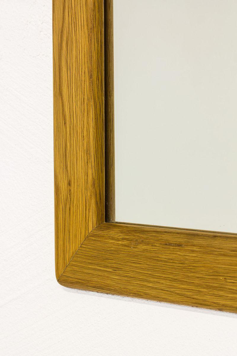 mid century spiegel mit rahmen aus eiche von fr seke bei pamono kaufen. Black Bedroom Furniture Sets. Home Design Ideas