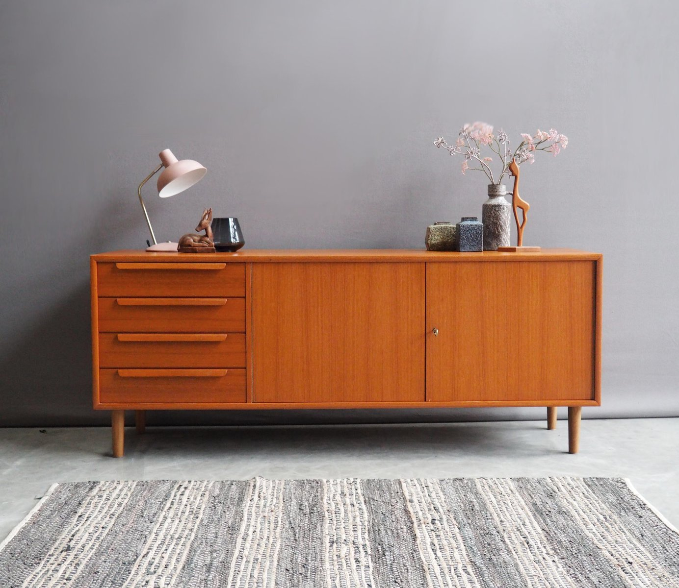 vintage sideboard von wk m bel 1960er bei pamono kaufen. Black Bedroom Furniture Sets. Home Design Ideas