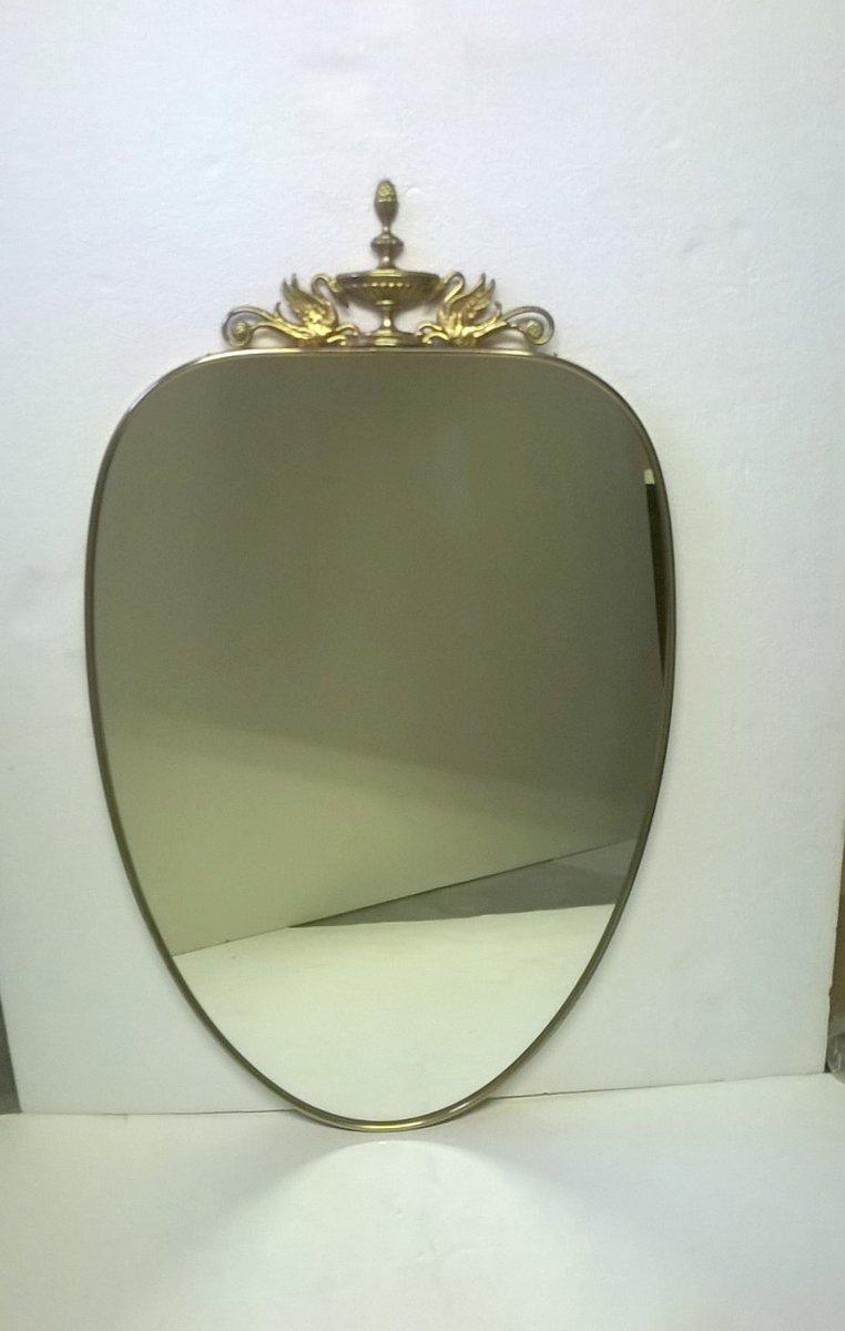 italienischer messing spiegel 1950er bei pamono kaufen. Black Bedroom Furniture Sets. Home Design Ideas