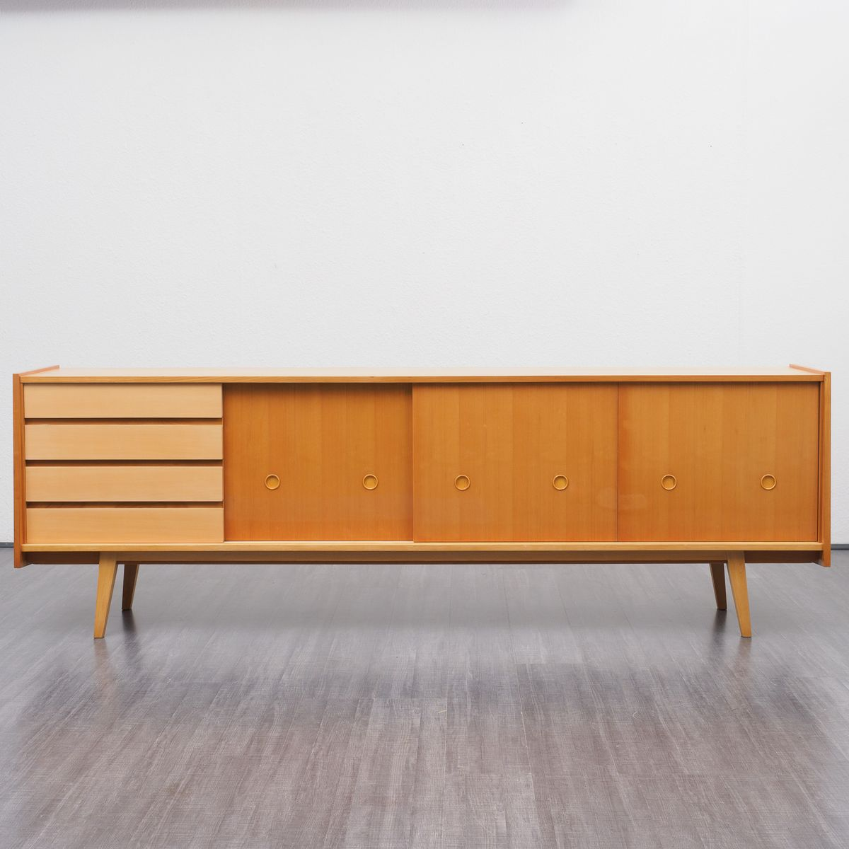 gro es sideboard aus kirschholz 1950er bei pamono kaufen. Black Bedroom Furniture Sets. Home Design Ideas