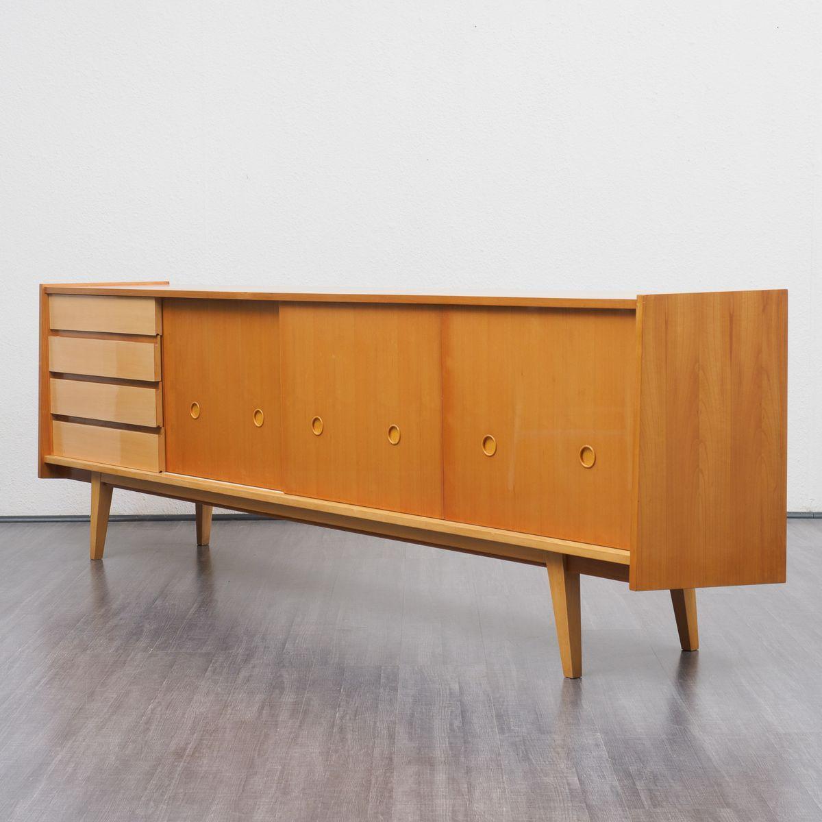 gro es sideboard aus kirschholz 1950er bei pamono kaufen. Black Bedroom Furniture Sets. Home Design Ideas