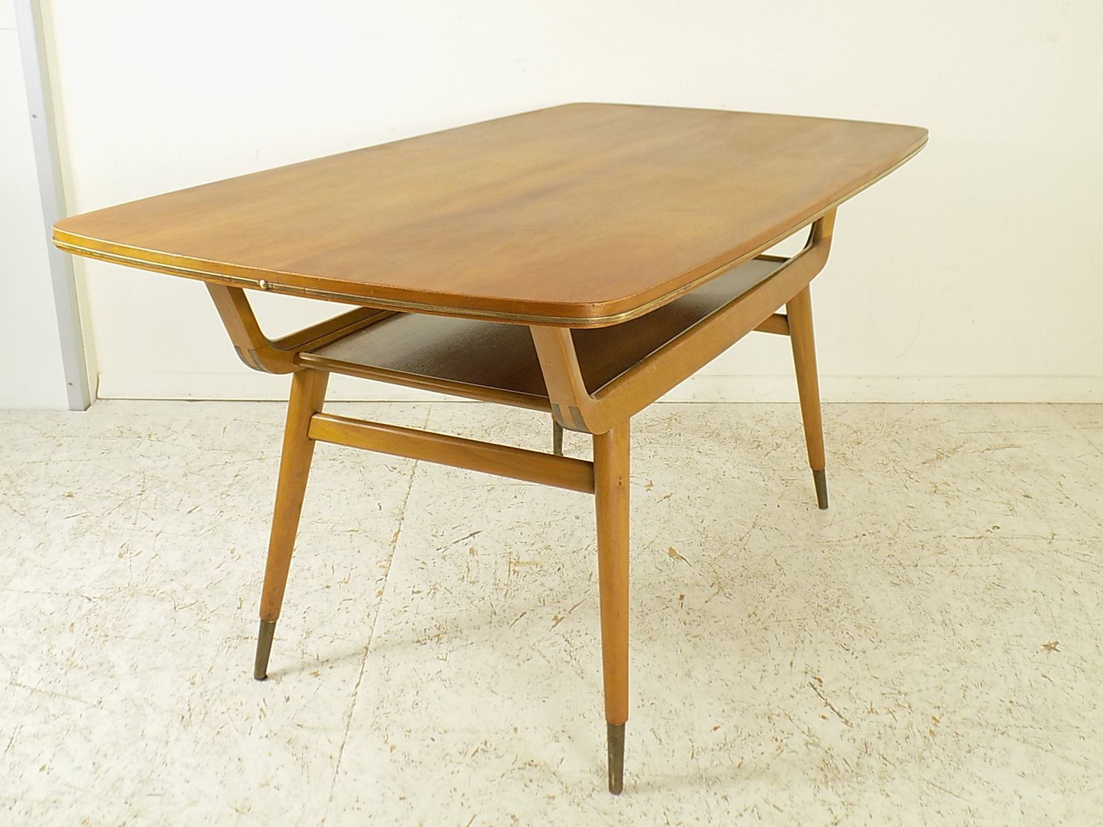 Vintage Walnut Beech Coffee Table 1960s For Sale At Pamono