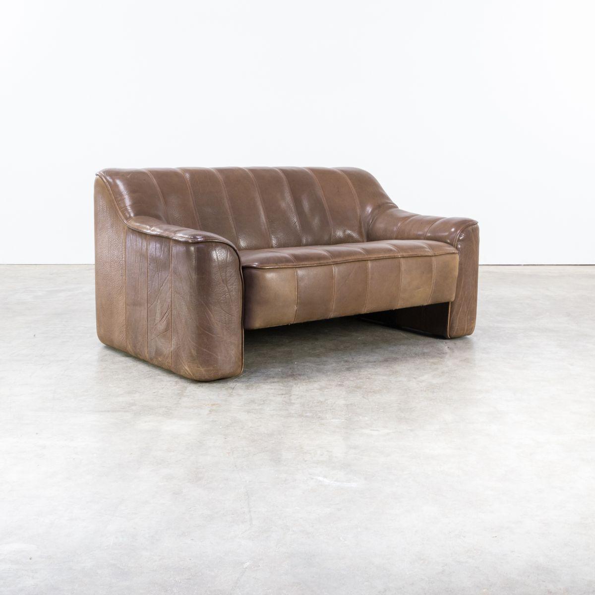 ds44 2 sitzer sofa mit verstellbarem sitz von de sede 1970er bei pamono kaufen. Black Bedroom Furniture Sets. Home Design Ideas