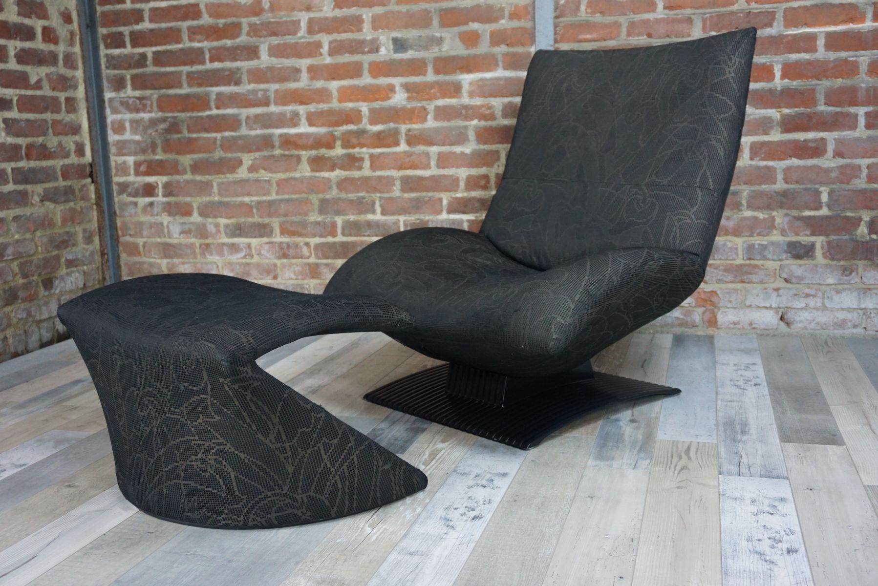 vintage the wave sessel ottomane von peter van der ham. Black Bedroom Furniture Sets. Home Design Ideas