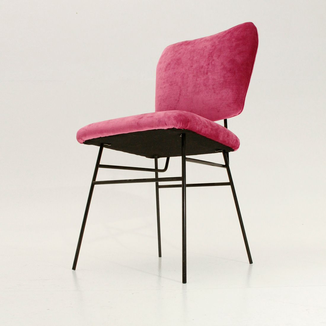 Italian pink velvet chair 1950s for sale at pamono for Chair in italian