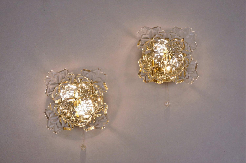 blumen wandleuchten von solken leuchten 1970er bei pamono. Black Bedroom Furniture Sets. Home Design Ideas