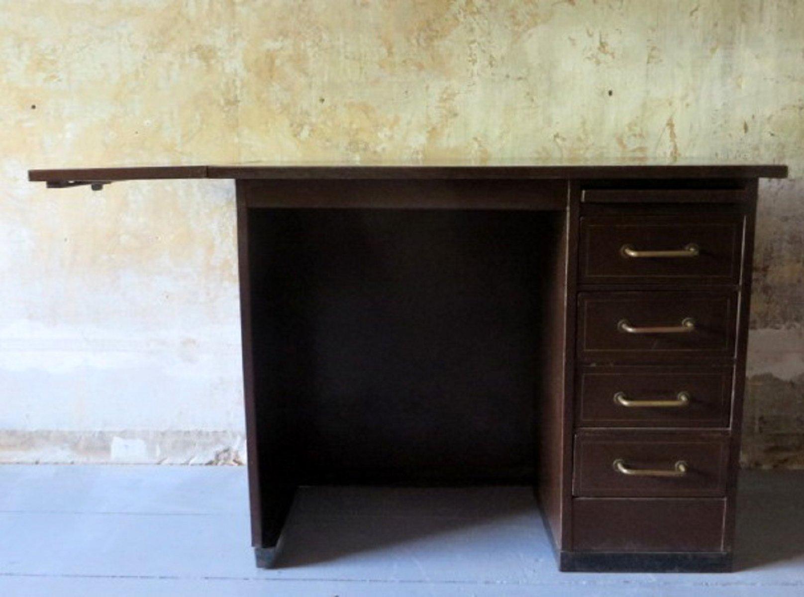 kleiner industrieller schreibtisch aus metall von roneo 1960er bei pamono kaufen. Black Bedroom Furniture Sets. Home Design Ideas