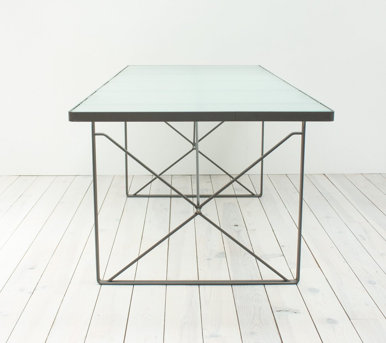 Moment glass dining table by niels gammelgaard for ikea 1987 for sale at pamono - Glass dining table ikea ...