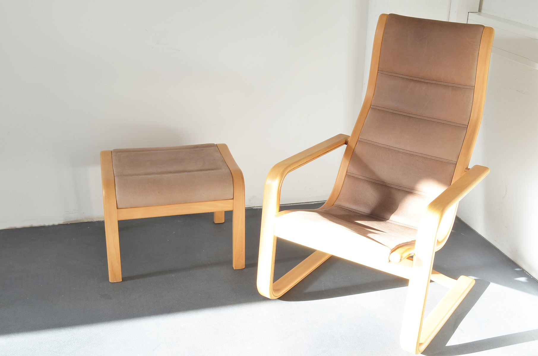 Lamello lounge chair with ottoman by yngve ekstr m for for 1980s chair