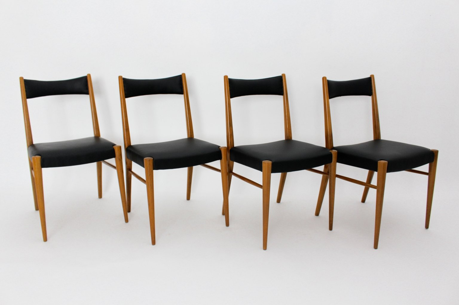 Viennese Dining Room Chairs by Anna-Lülja Praun for Wiesner Hager ...