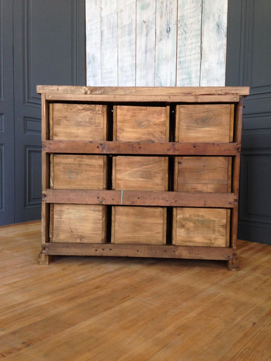 Vintage cabinet with 9 drawers for sale at pamono for Kitchen drawers for sale