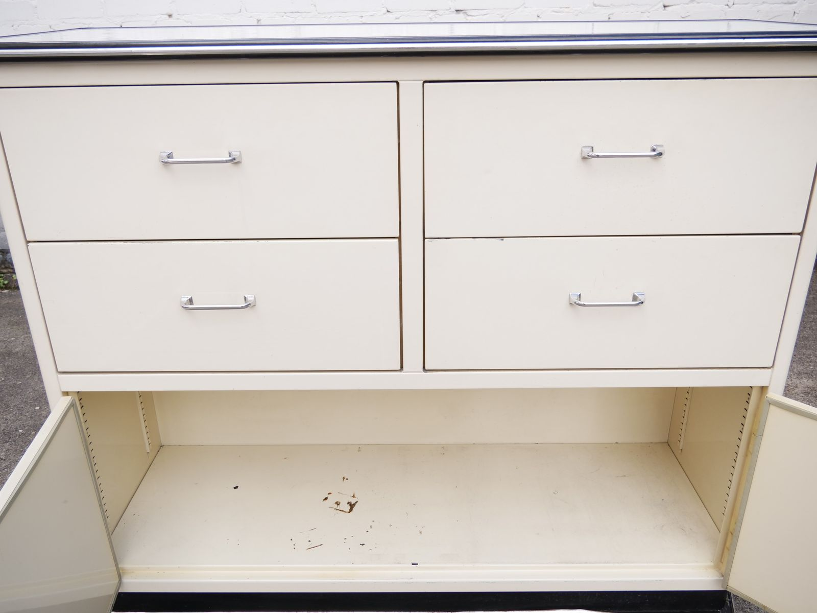 Mid century large doctors cabinet with drawers for index for Kitchen drawers for sale