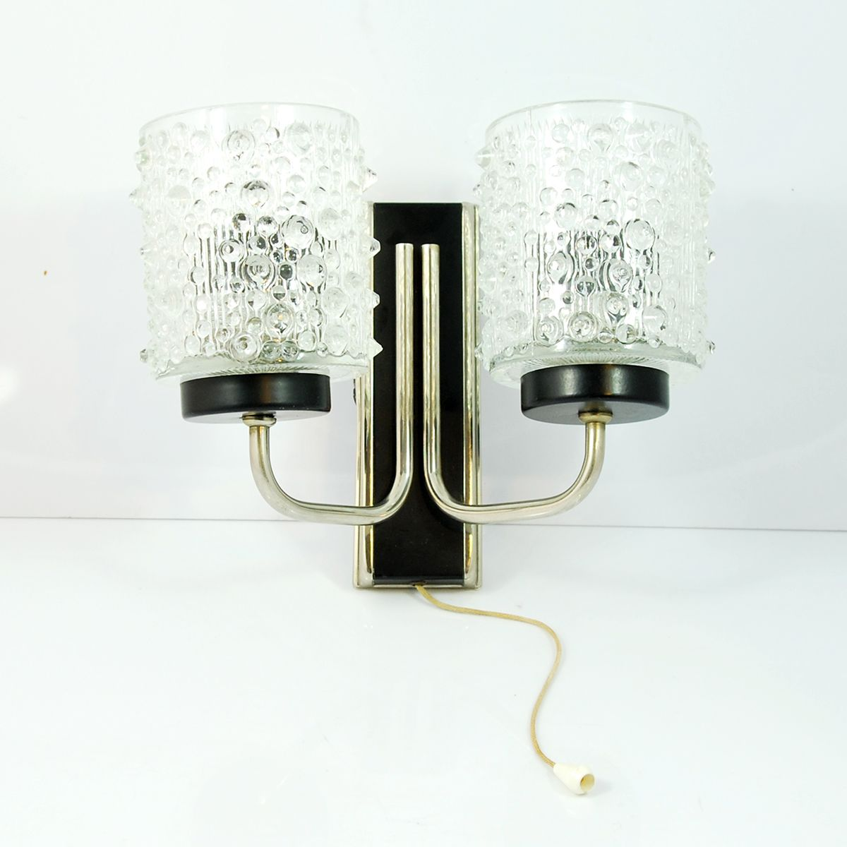 double wall light from solken leuchten 1960s for sale at. Black Bedroom Furniture Sets. Home Design Ideas