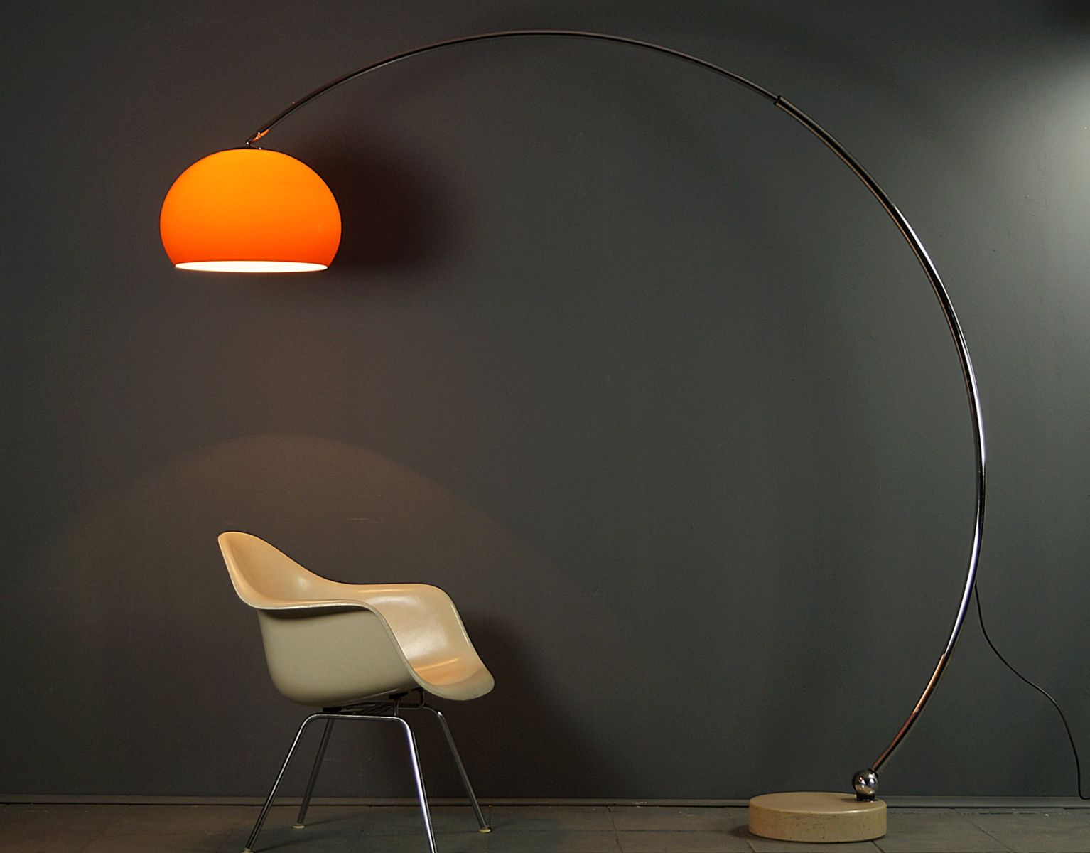 space age arc lamp 1970s for sale at pamono. Black Bedroom Furniture Sets. Home Design Ideas