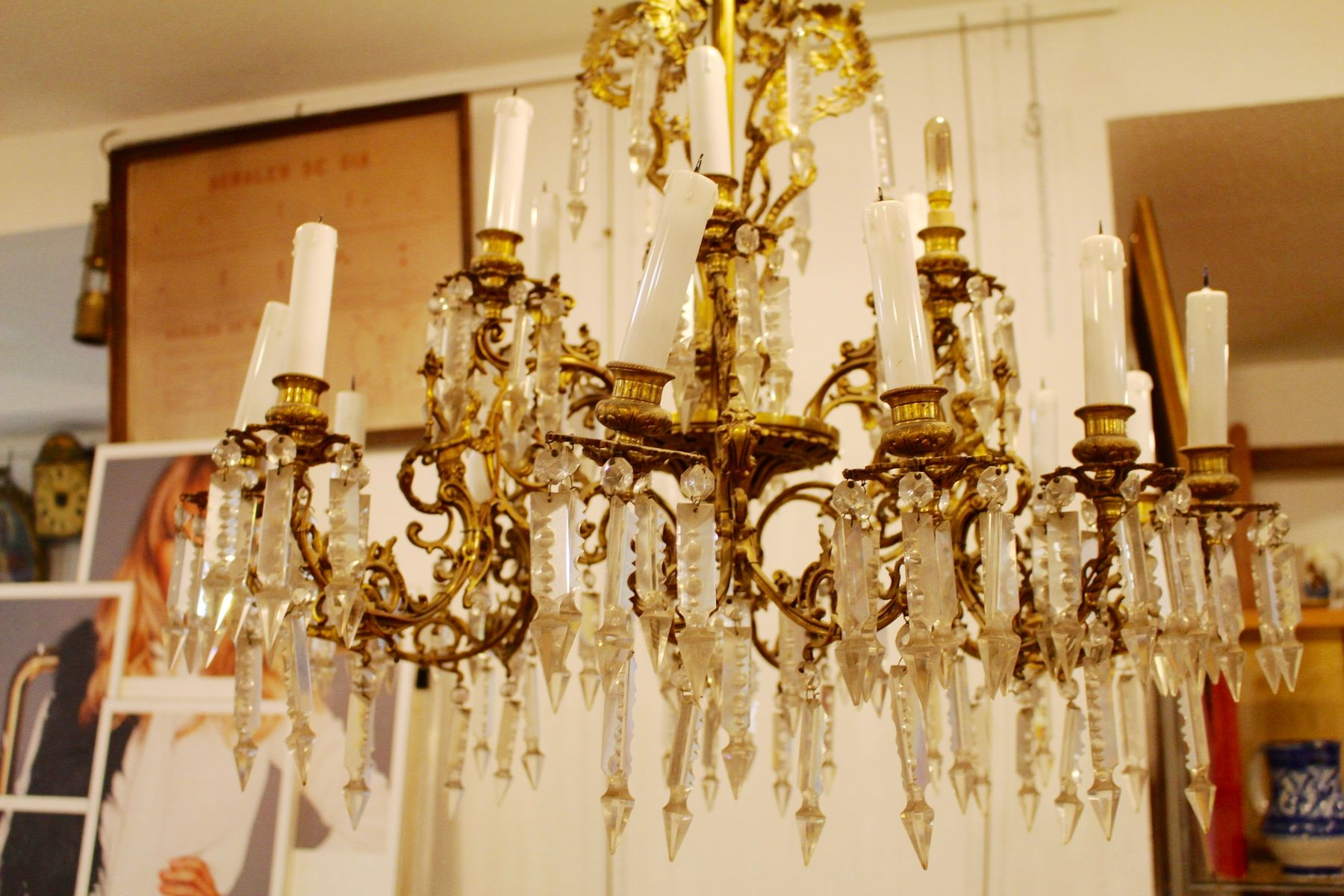 Antique Spanish Chandelier for sale at Pamono