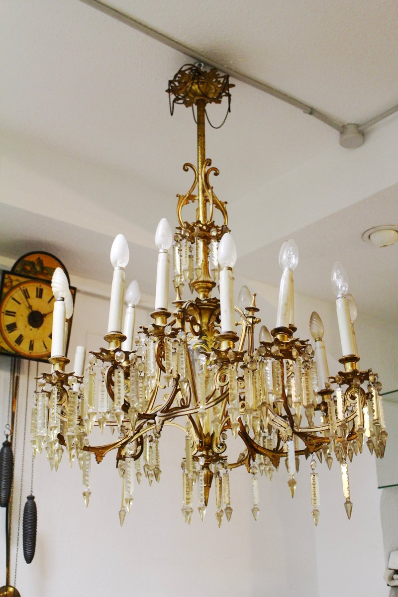 Antique spanish chandelier for sale at pamono antique spanish chandelier mozeypictures Choice Image