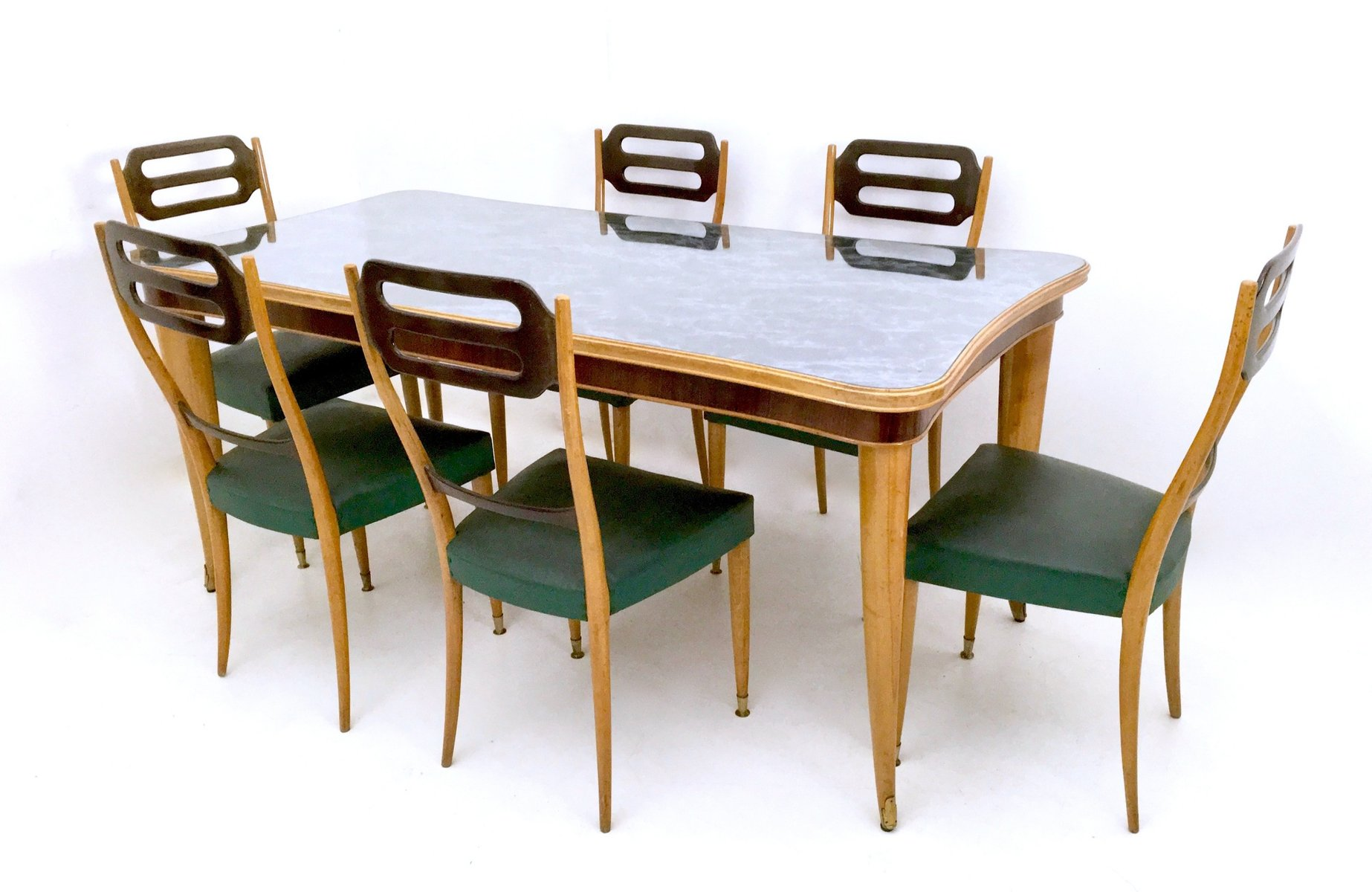 Italian Beech And Maple Dining Table 1950s For Sale At Pamono