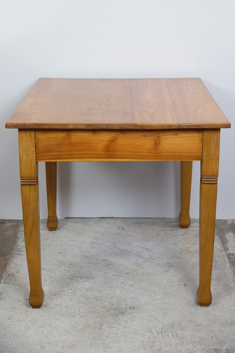 art nouveau kitchen table with drawer  1910s for sale at Art Deco Kitchen French Art Nouveau Sideboard