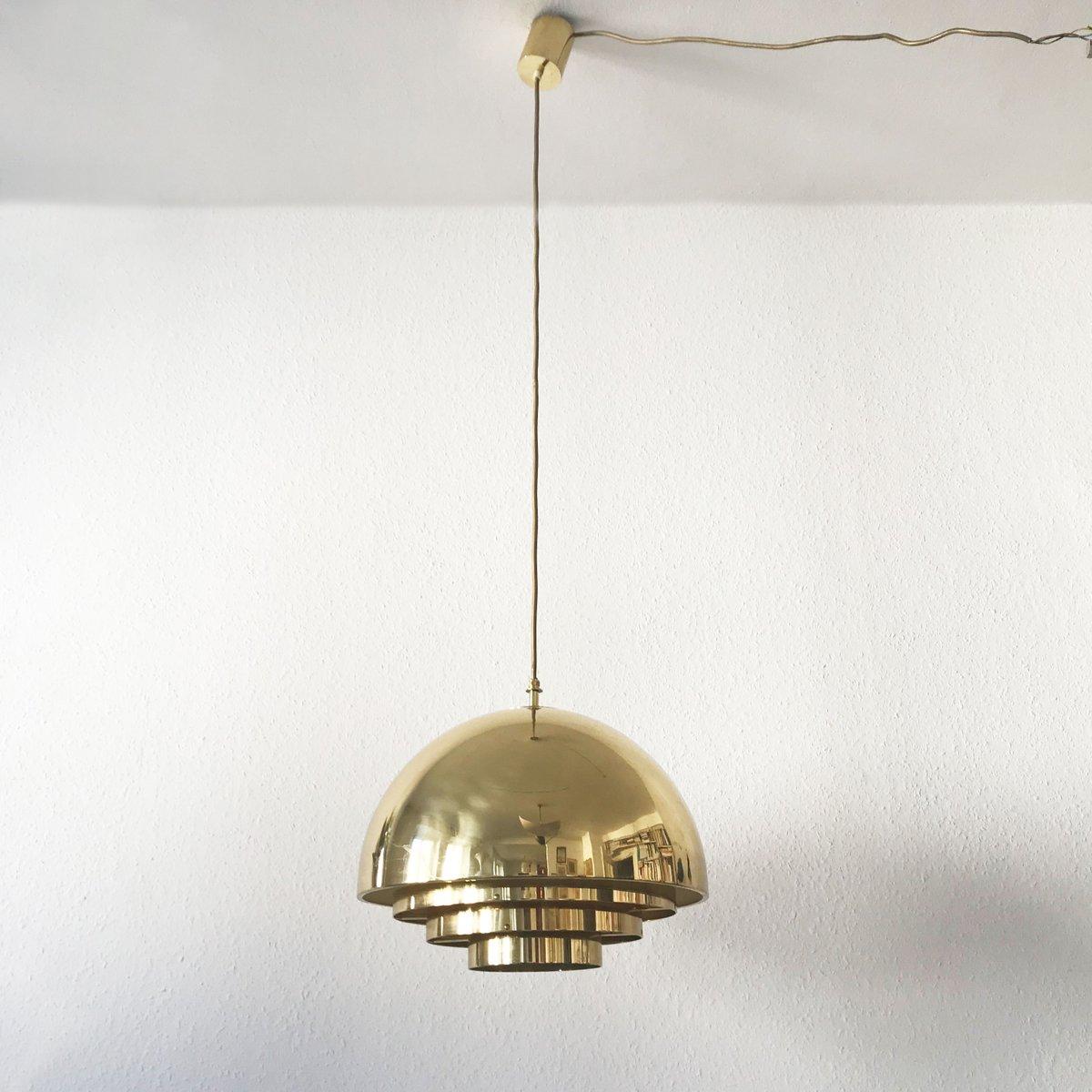 Mid century modern brass dome pendant lamp from vereinigte mid century modern brass dome pendant lamp from vereinigte werksttten for sale at pamono aloadofball Gallery