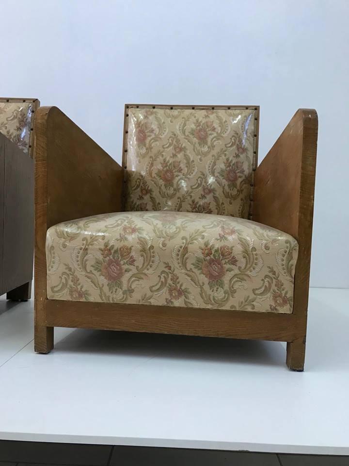 art deco st hle 1960er 2er set bei pamono kaufen. Black Bedroom Furniture Sets. Home Design Ideas