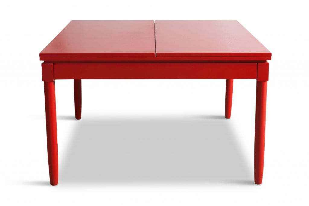 Mid Century Red Lacquered Extendable Dining Table by Vico  : mid century red lacquered extendable dining table by vico magistretti 1963 5 from www.pamono.com size 1024 x 682 jpeg 200kB