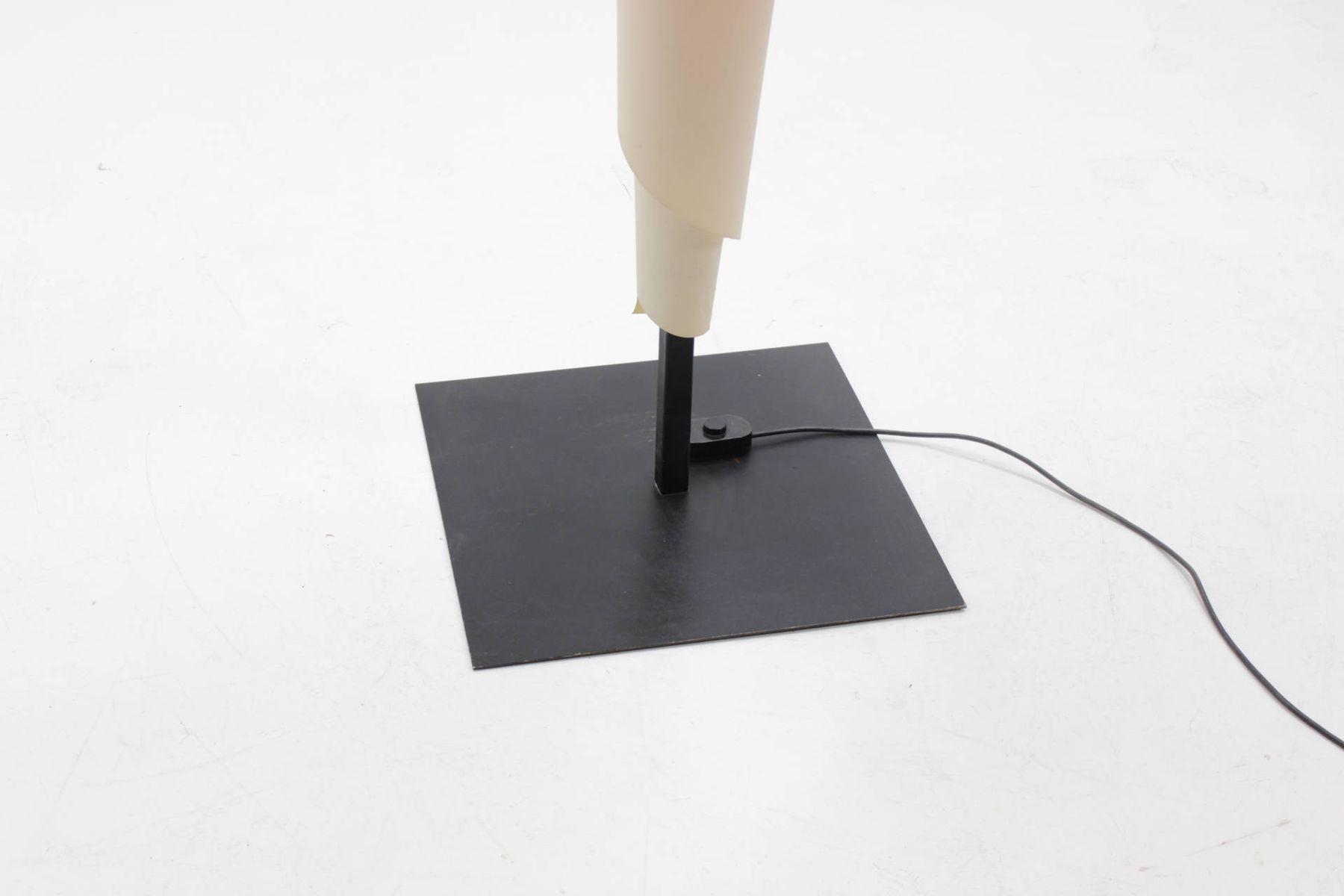 Alta costura white plastic floor lamp by josep aregall for for Alta costura f floor lamp